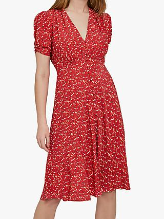 Ghost Sabrina Dress, Lulu Ditsy Red