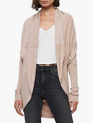 AllSaints Itat Cotton Shrug, Whisper Pink