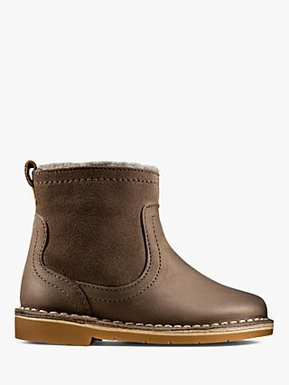 Clarks Children's Comet Suede Boots, Brown