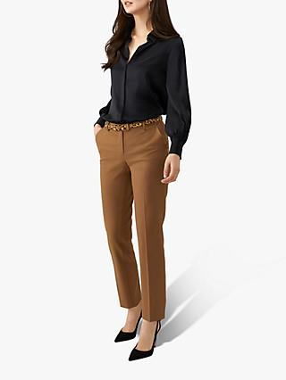 Pure Collection Wool Blend Trousers, Camel