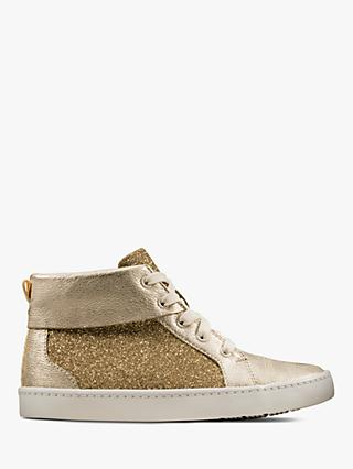 Clarks Children's City Oasis Glitter High Top Shoes