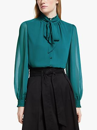 Somerset by Alice Temperley Tie Neck Blouse, Green