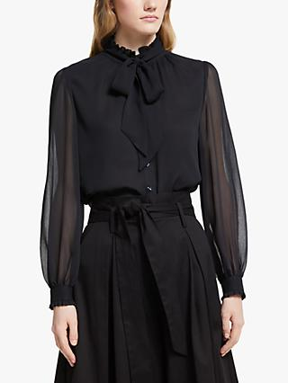 Somerset by Alice Temperley Tie Neck Blouse, Black