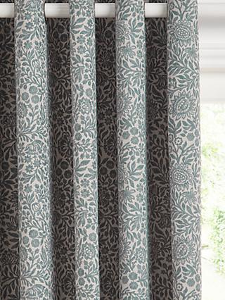 John Lewis & Partners Hidcote Weave Pair Lined Eyelet Curtains