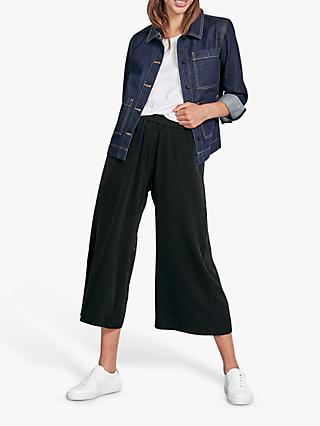 hush Denim Boxy Jacket, Dark Rinse Wash