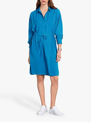 hush Oriana Drawstring Dress, Mykonos Blue