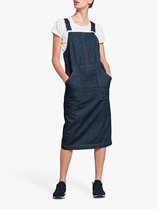 hush Denim Dungaree Dress, Dark Rinse Wash