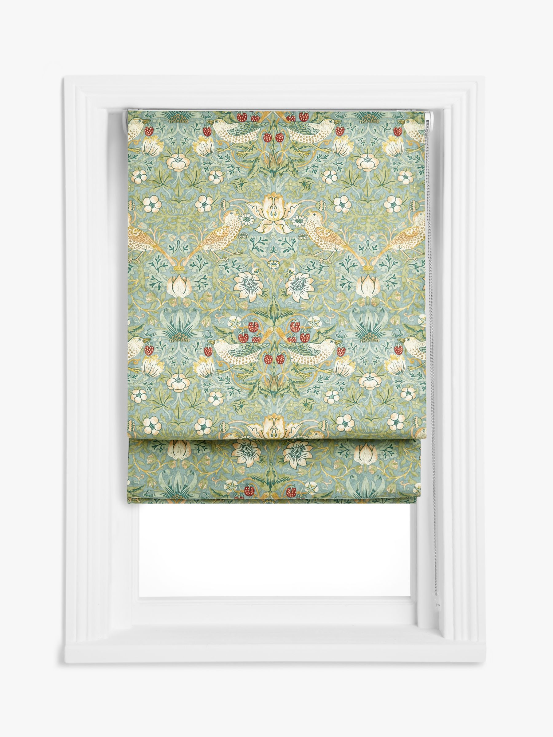 Morris Co Strawberry Thief Roman Blind At John Lewis Partners