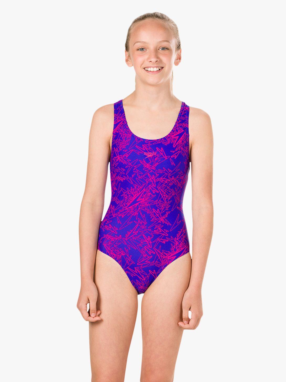 Speedo Speedo Girls' Allover Boom Splashback Swimsuit
