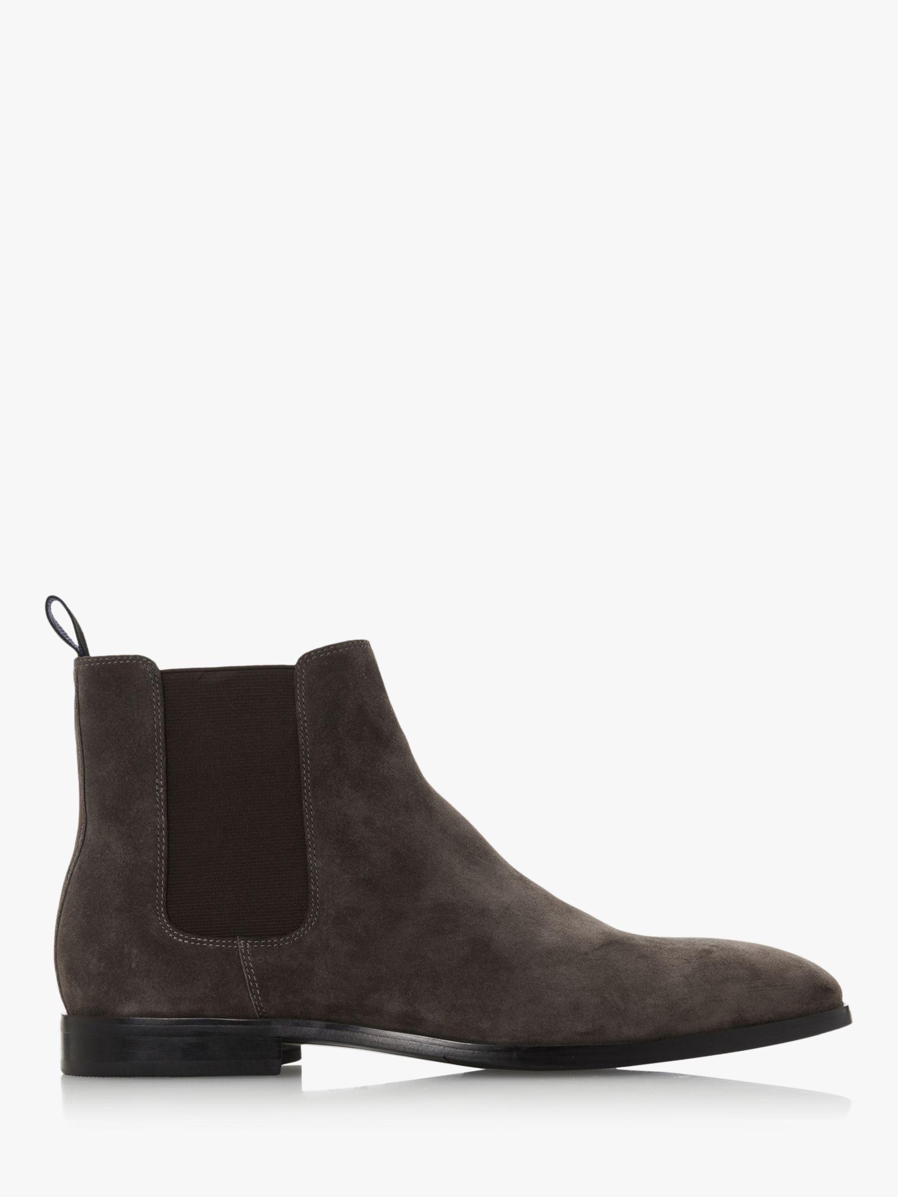 Dune Dune Mandel Suede Chelsea Boots, Grey