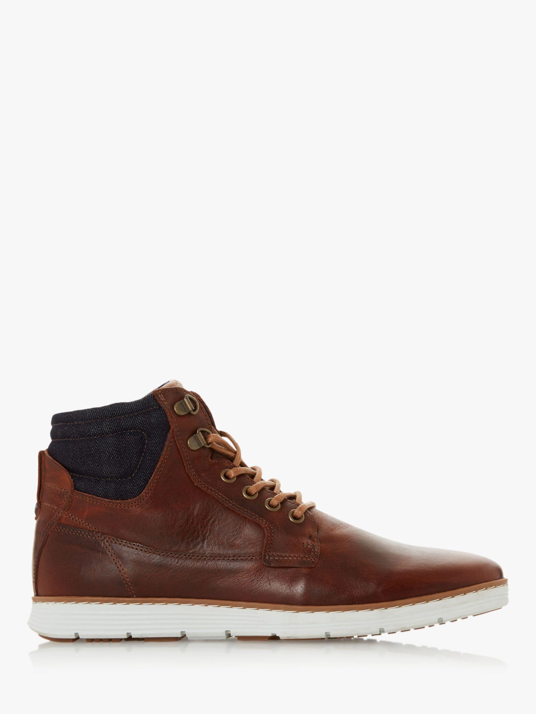 Dune Dune Corbin Leather Chukka Boots, Tan
