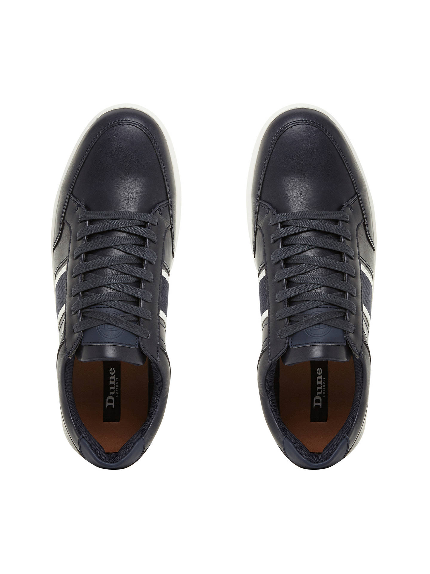 Buy Dune Terry Contrast Stripe Trainers, Navy, 11 Online at johnlewis.com