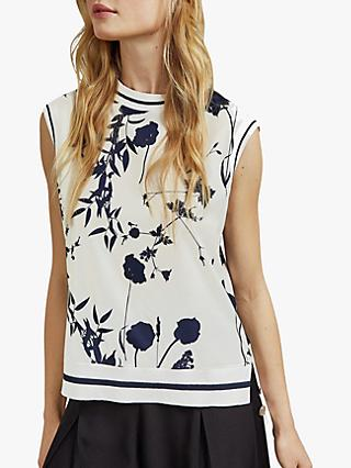 Ted Baker Miha Floral Top, White