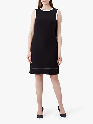 Hobbs Kendra Shift Dress, Navy/Ivory