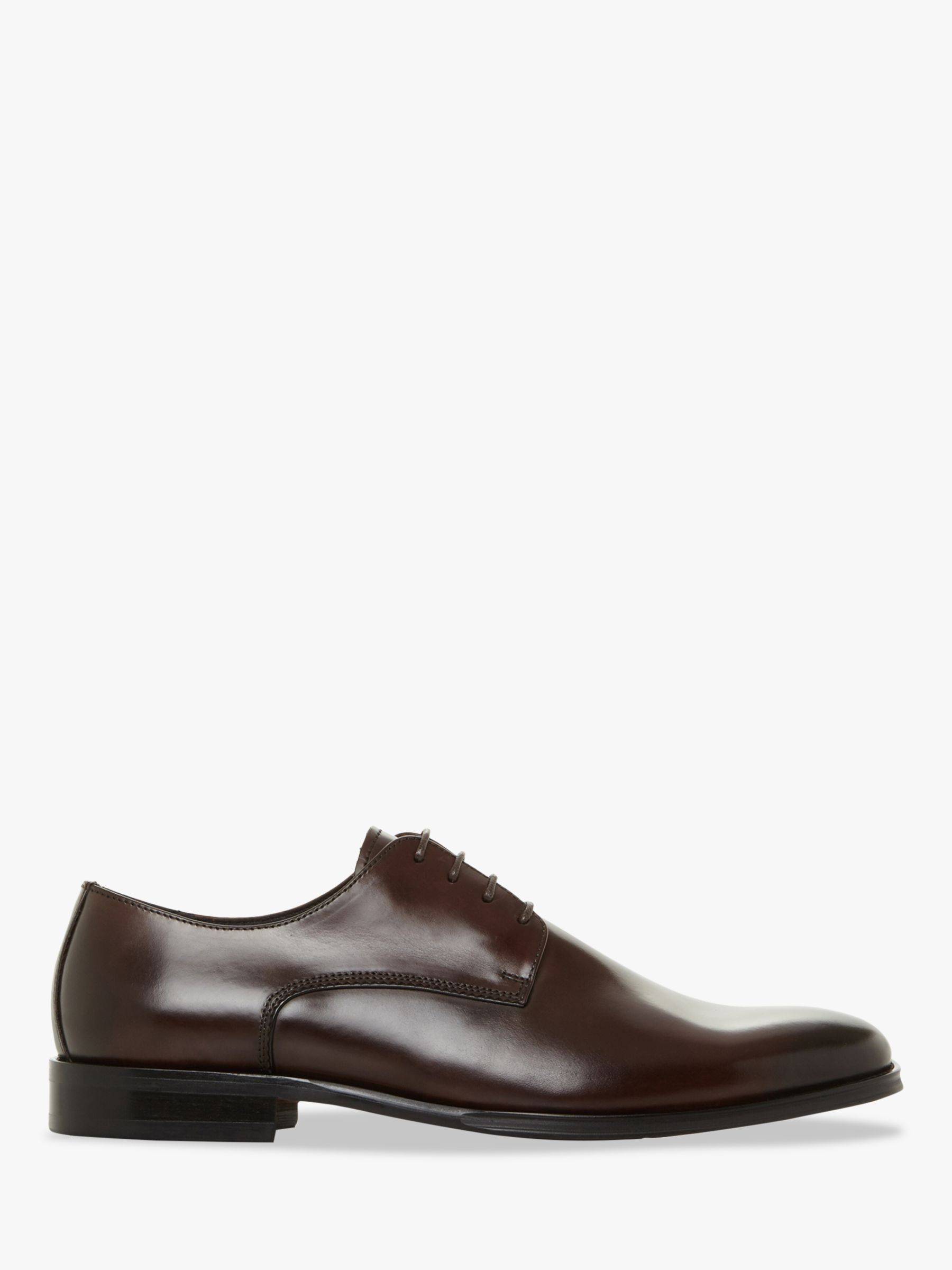 Bertie Bertie Saddle Leather Derby Shoes, Brown