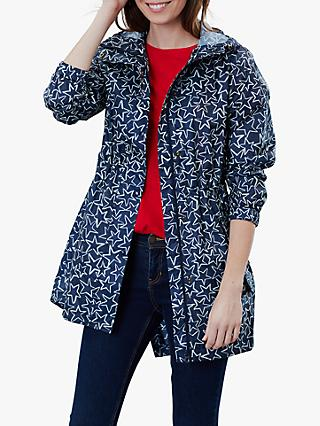 Joules Golightly Packaway Coat, Navy