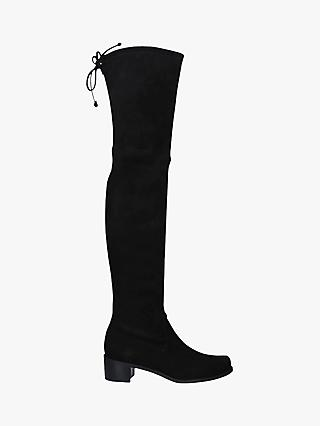 Stuart Weitzman Midland Suede Over the Knee Boots, Black