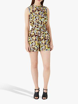 Finery Violet Floral Playsuit, Multi