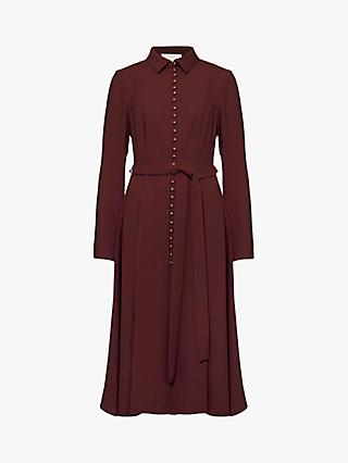 Damsel in a Dress Lanie Military Dress, Burgundy