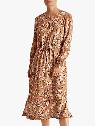 Fenn Wright Manson Petite Sandrine Dress, Leopard Print