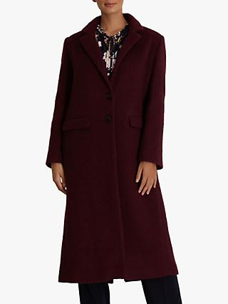 Fenn Wright Manson Petite Esmee Wool Blend Coat, Burgundy