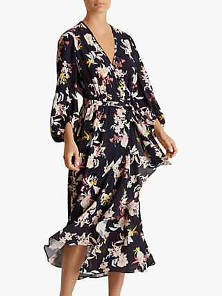 Fenn Wright Manson Petite Jolie Floral Wrap Dress, Multi