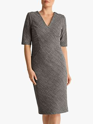 Fenn Wright Manson Megane Dress, Black/Ivory Check