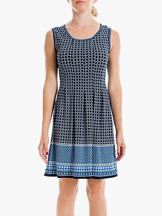 Max Studio Square Print Dress, Blue