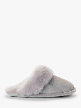 Just Sheepskin Duchess Sparkle Slippers, Grey