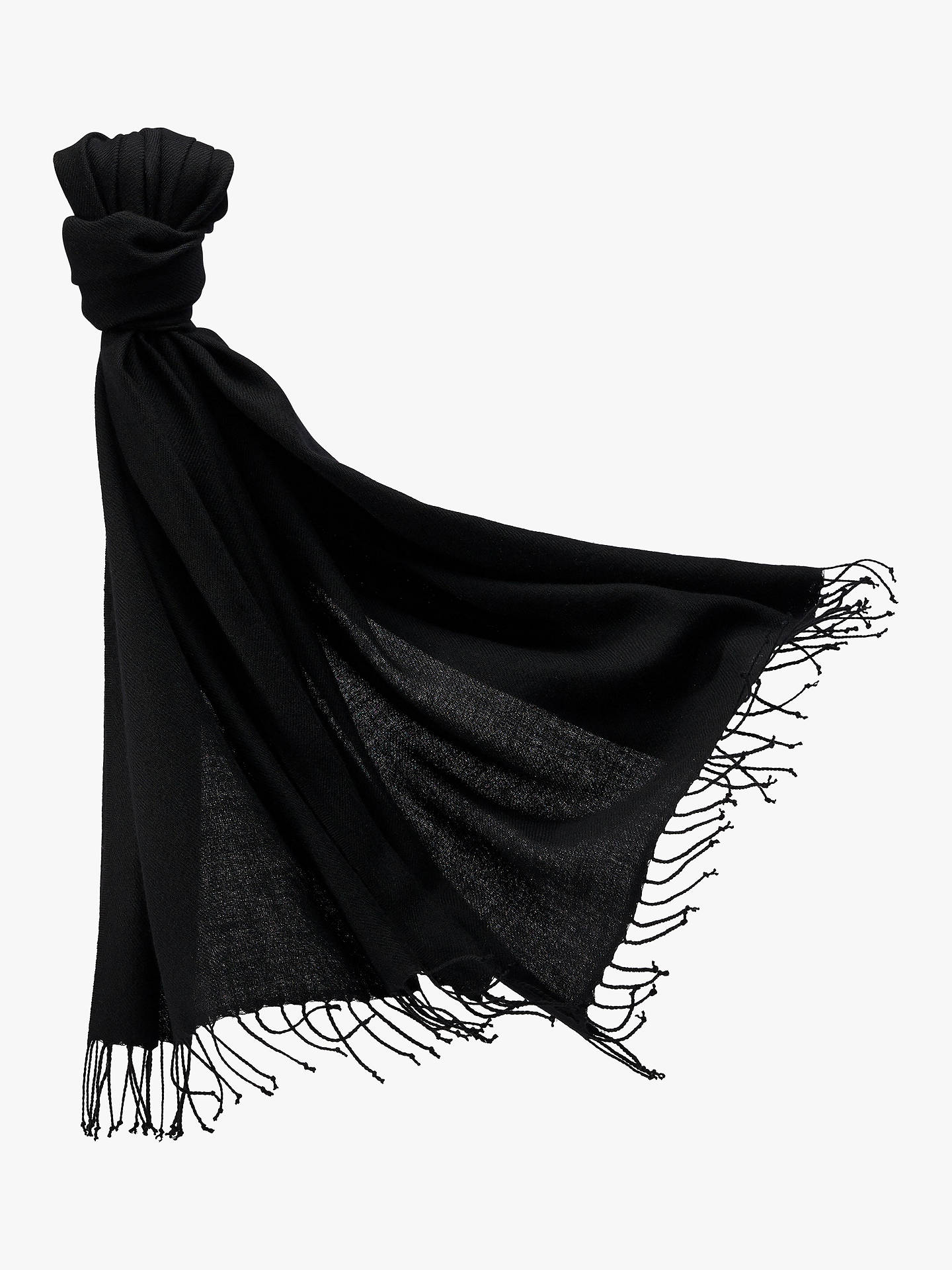 Buy Pure Collection Cashmere Stole Pashmina, Black Online at johnlewis.com