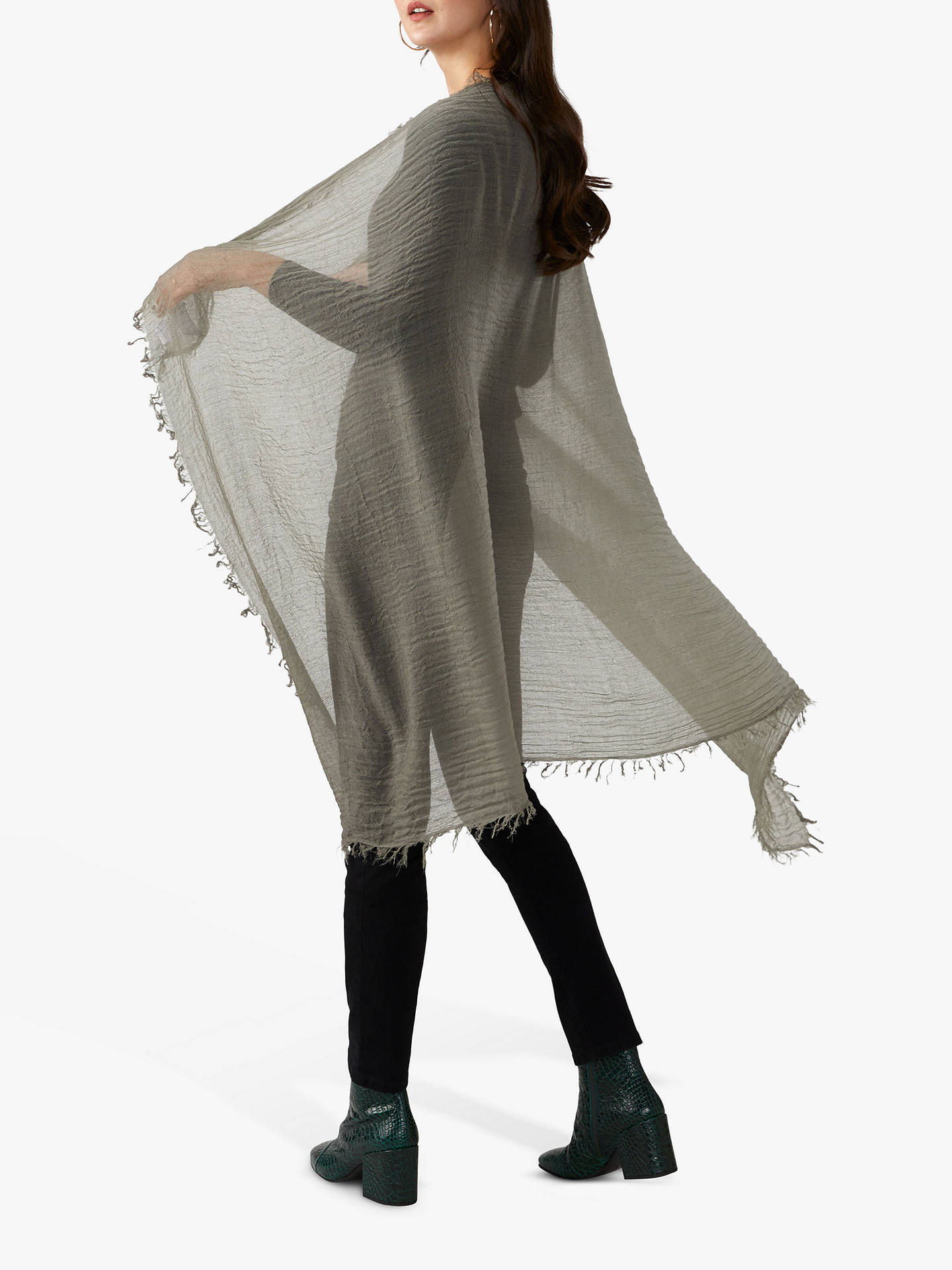 Buy Pure Collection Cashmere Scarf, Khaki Online at johnlewis.com