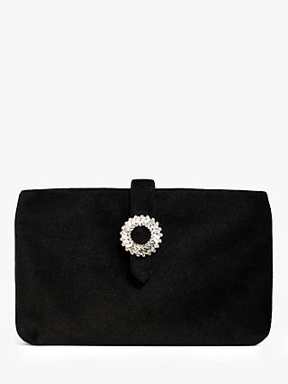 Phase Eight Cat Jewel Suede Clutch Bag