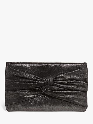 Phase Eight Keri Knot Front Clutch Bag, Metallic