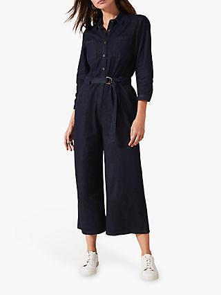 Phase Eight Jarah Denim Belted Jumpsuit, Indigo