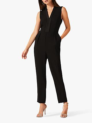 Phase Eight Tux Straight Leg Jumpsuit, Black