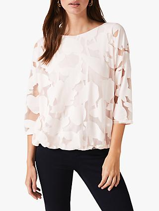 Phase Eight Reine Burnout Top, Pale Pink