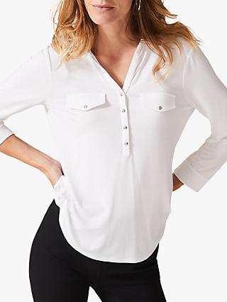 Phase Eight Misty Fitted Shirt, Ivory