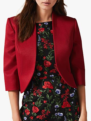 Phase Eight Tammy Textured Jacket, Sangria Red