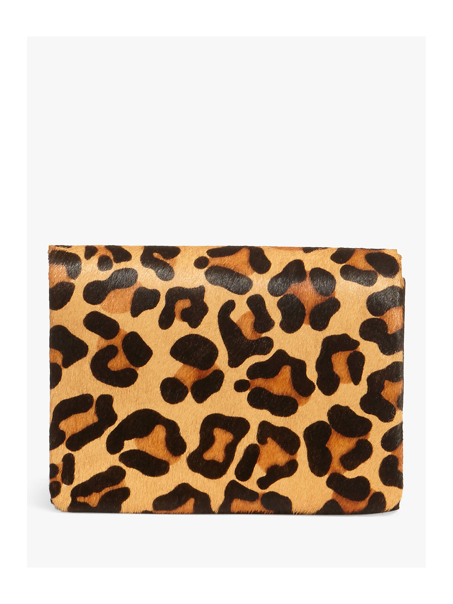 Buy Phase Eight Leopard Print Clutch Bag, Multi Online at johnlewis.com