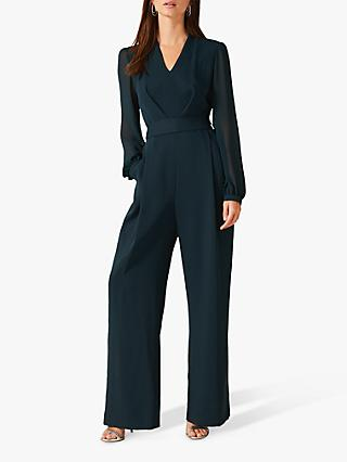 Phase Eight Audrey Tie Jumpsuit, Galactic Green