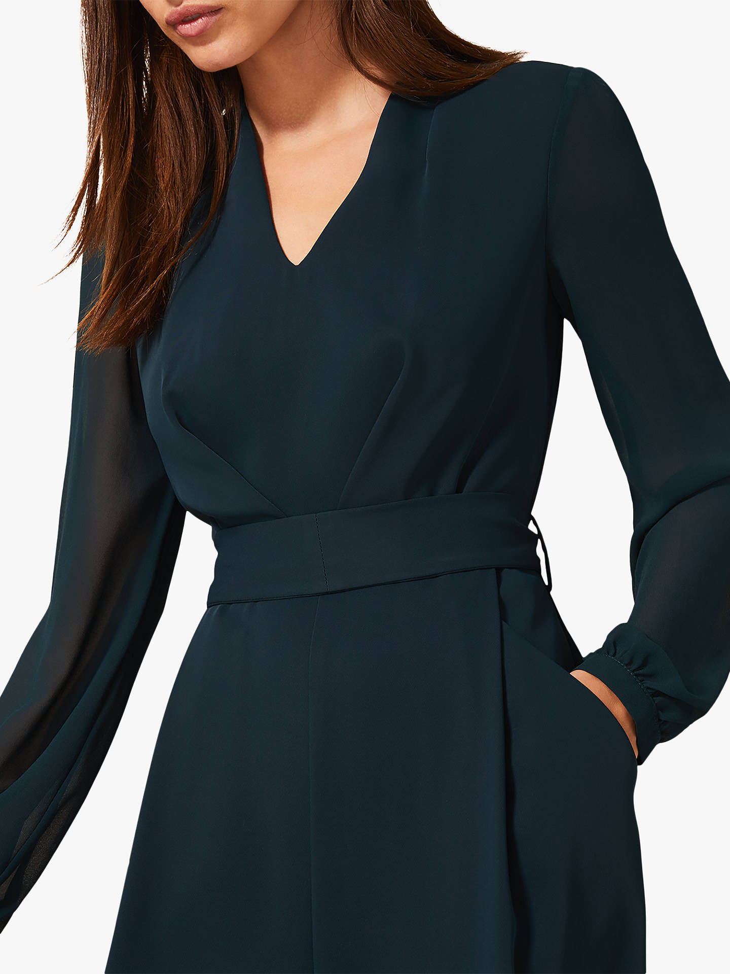 Buy Phase Eight Audrey Tie Jumpsuit, Galactic Green, 20 Online at johnlewis.com