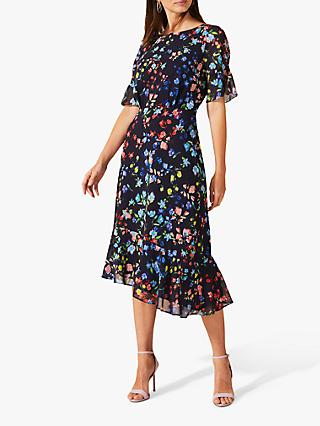 Phase Eight Callista Woven Dress, Black/Multi
