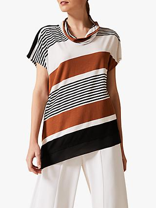 Phase Eight Irma Diagonal Stripe Top, Multi