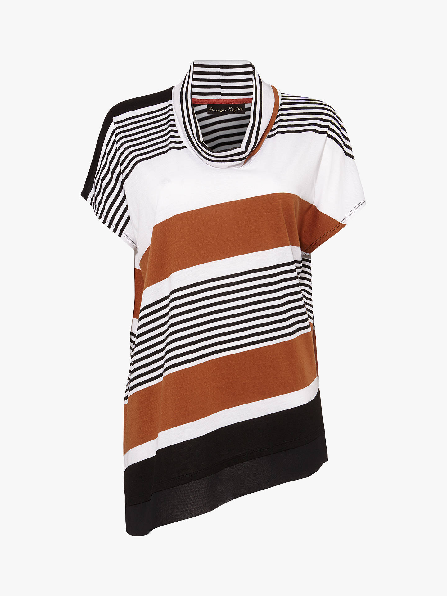 Buy Phase Eight Irma Diagonal Stripe Top, Multi, 8 Online at johnlewis.com