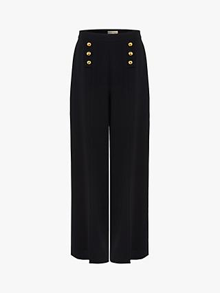 Phase Eight Sanitta High Waist Trousers, Navy