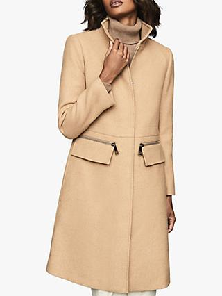 Reiss Macey Wool Blend Funnel Neck Coat