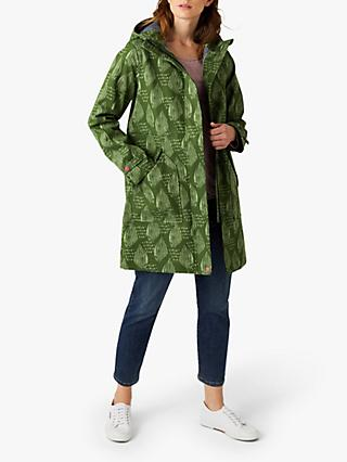 White Stuff Lamerton Rain Coat, Ivy Green Print