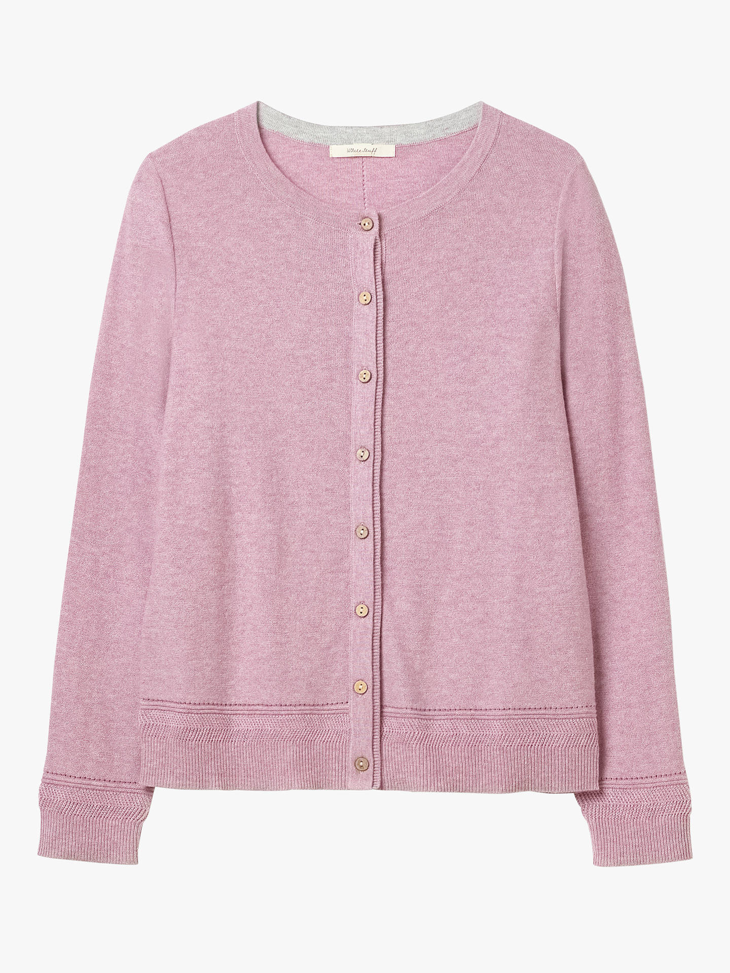 Buy White Stuff Harbour Button Through Cardigan, Smooth Pink, 8 Online at johnlewis.com