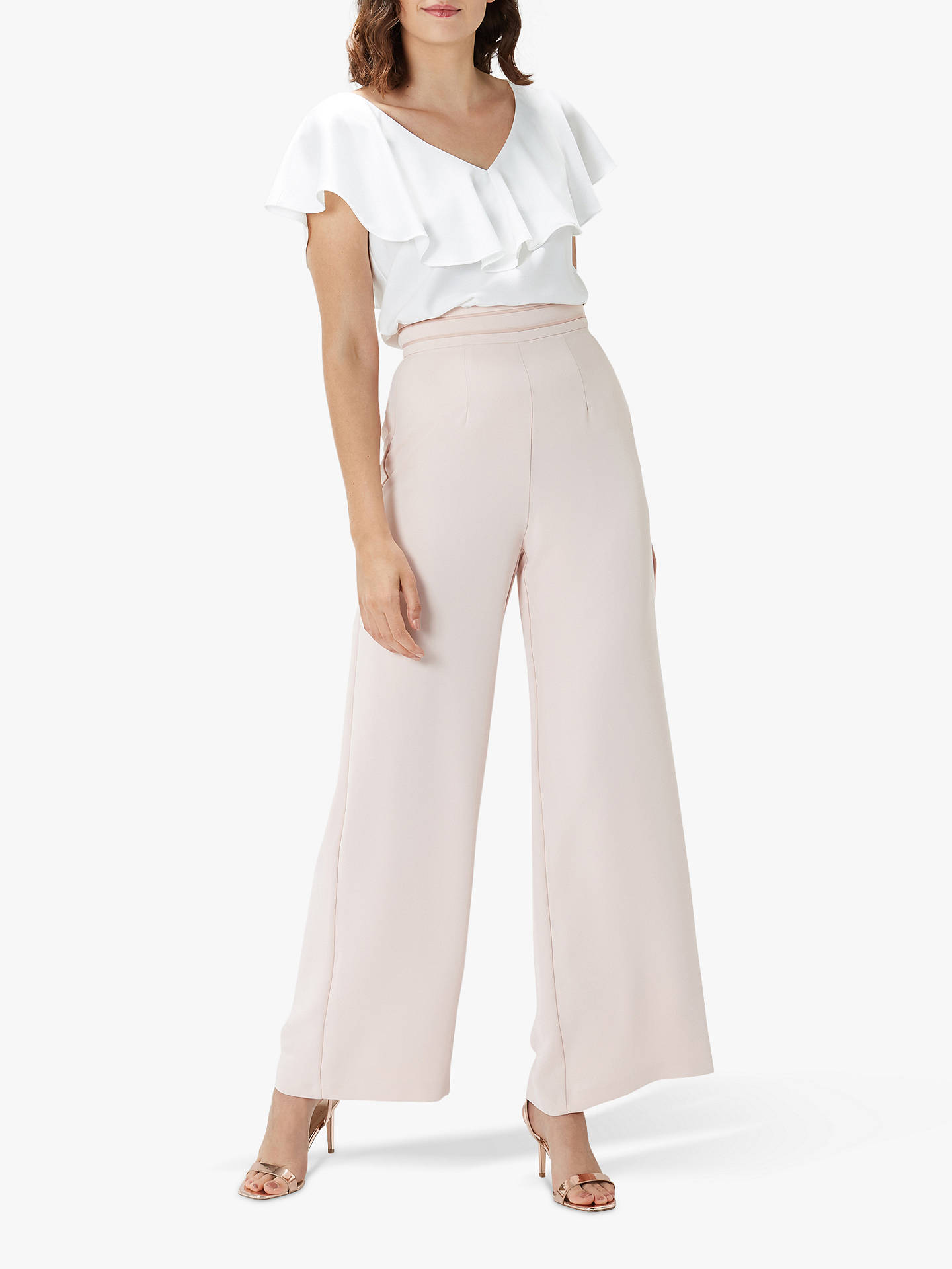 Buy Coast Beau Ruffle Top, Ivory, 10 Online at johnlewis.com