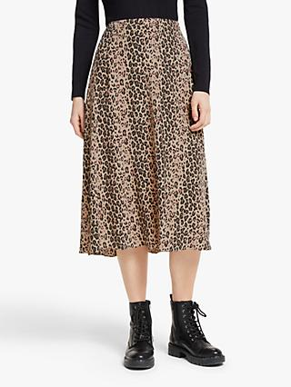 Somerset by Alice Temperley Animal Print Midi Skirt, Neutral